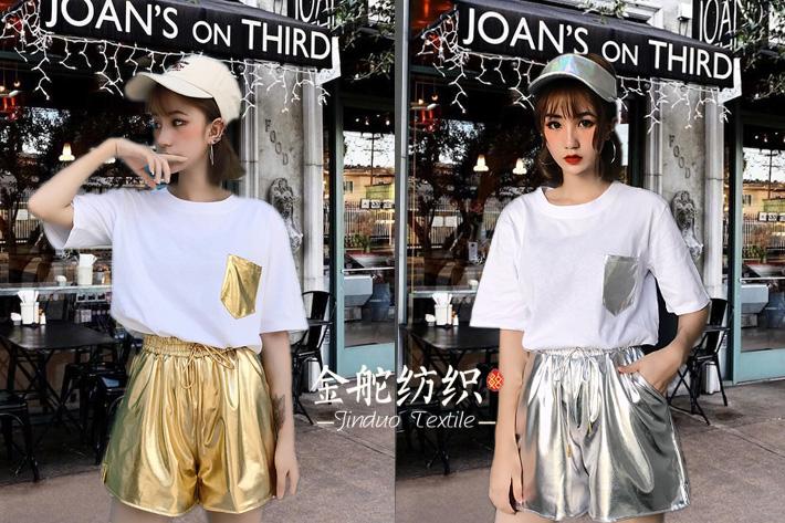 烫金工艺裤子!金属质感,时尚奢华!