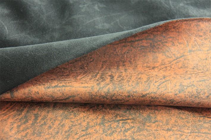 麂皮绒沙发面料,复合圈绒后效果展示