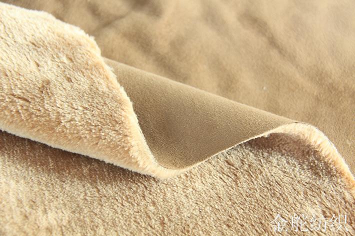 麂皮绒复合羊剪绒,厚实,保暖