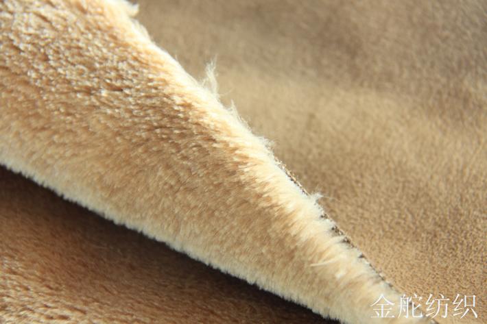 麂皮绒复合羊剪绒,整体效果