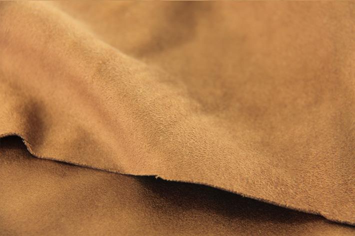 棕色双面麂皮绒绒面毛效