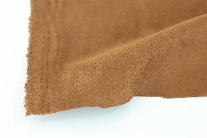 棕色双面麂皮绒毛边