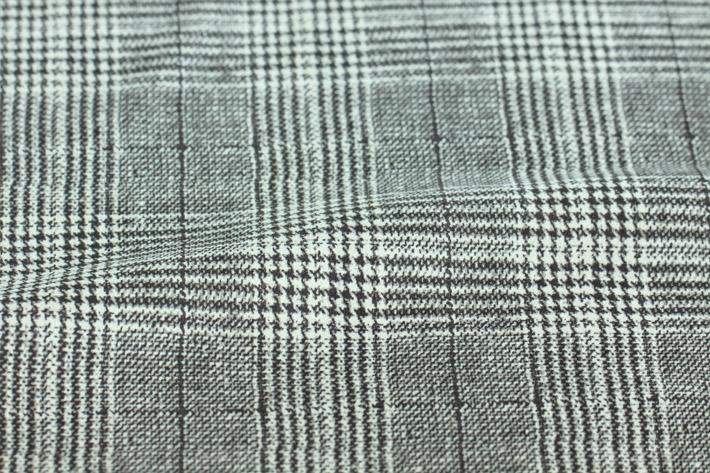 黑色印花千鸟格纹麂皮绒