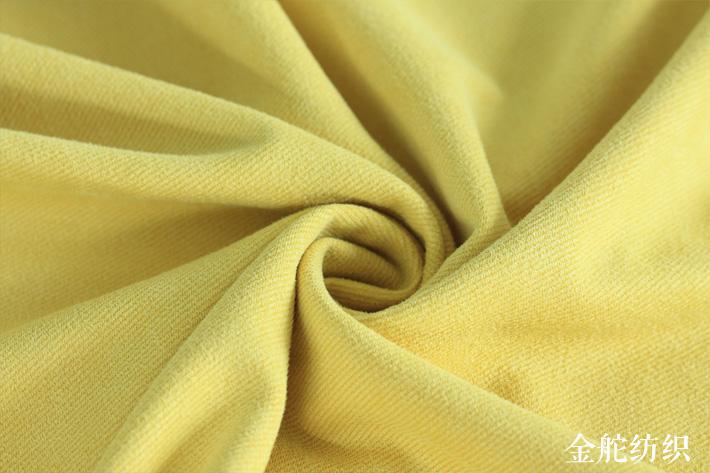 针织斜纹麂皮绒,绒毛效果细节图