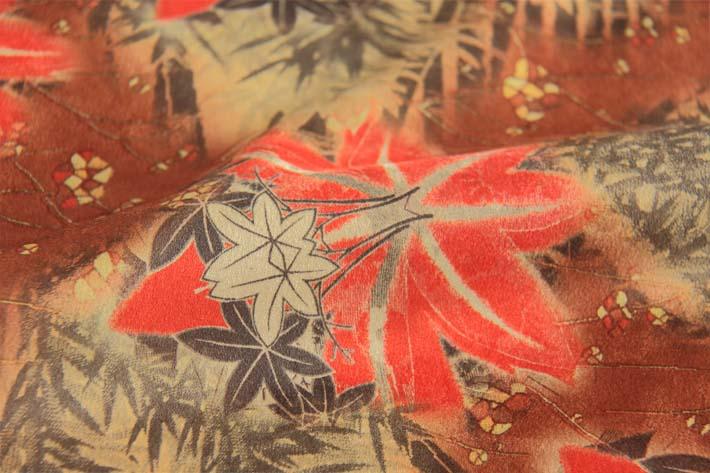 印花麂皮绒花型部分细节图