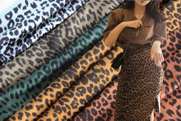 豹纹麂皮绒